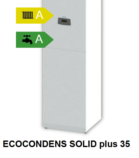 Caldaia a condensazione con bollitore integrato ECOCONDENS SOLID plus